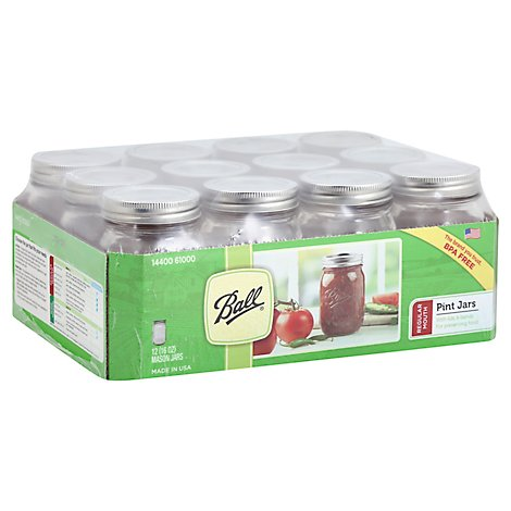 Ball Mason Jars Pint Regular Mouth - 12 Count