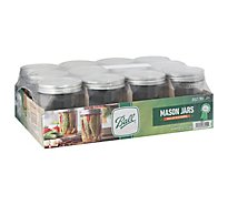 Ball Mason Jars Pint Wide Mouth - 12 Count