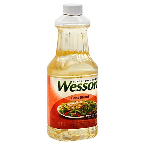 Wesson Best Blend Oil Vegetable Oil And Corn Oil - 48 Fl. Oz.