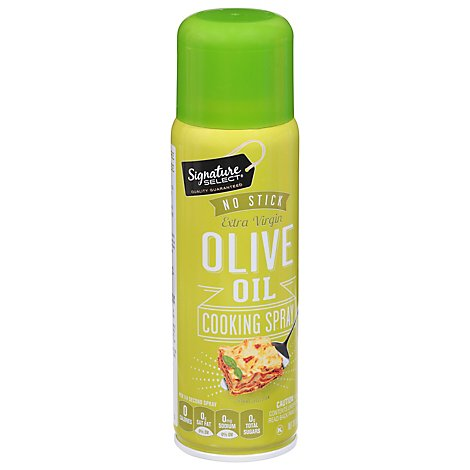 Signature SELECT Cooking Spray No Stick Olive Oil Extra Virgin Aerosol - 5 Oz