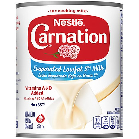 Carnation Evaporated Milk Vitamins A & D Added Lowfat - 12 Fl. Oz.