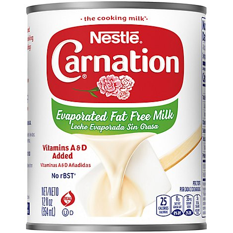 Carnation Evaporated Milk Vitamins A & D Added Fat Free - 12 Fl. Oz.