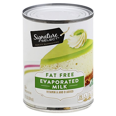 Signature SELECT Milk Evaporated Fat Free Can - 12 Fl. Oz.