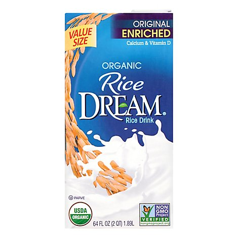 Rice Dream Rice Drink Organic Enriched Original - 64 Fl. Oz.