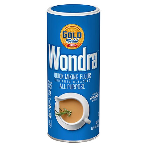Gold Medal Wondra Flour Quick-Mixing Enriched Bleached All-Purpose - 13.5 Oz