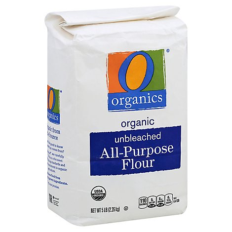 O Organics Organic Flour All Purpose Unbleached - 5 Lb