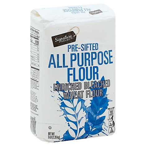 Signature SELECT Flour All Purpose Pre-Sifted Enriched Bleached - 5 Lb