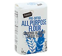 Signature SELECT/Kitchens Flour All Purpose Pre-Sifted Enriched Bleached - 5 Lb