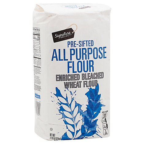 Signature SELECT Flour All Purpose Pre-Sifted Enriched Bleached - 10 Lb