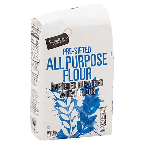 Signature SELECT Flour All Purpose Pre-Sifted Enriched Bleached - 32 Oz