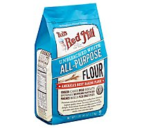 Bobs Red Mill Flour Wheat Unbleached - 80 Oz