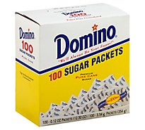 Domino Sugar Pure Cane Granulated Extra Fine Packets - 100-0.12 Oz
