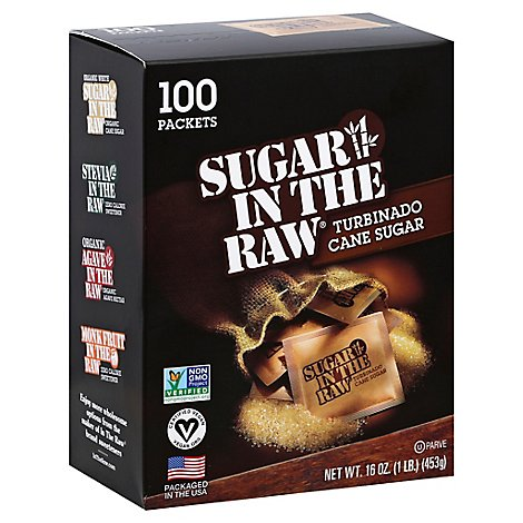 Sugar In The Raw Sugar 100% Natural Turbinado Cane Sugar Packets - 100 Count