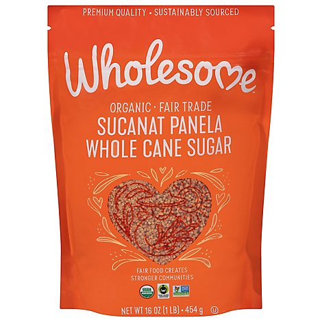 Wholesome Sweeteners Organic Sucanat Sugar Cane Granulated - 16 Oz