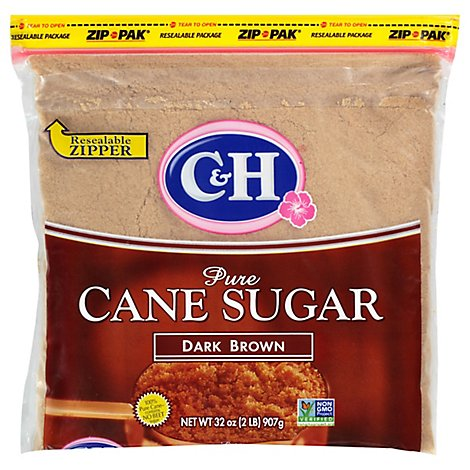 C&H Sugar Cane Pure Dark Brown - 2 Lb
