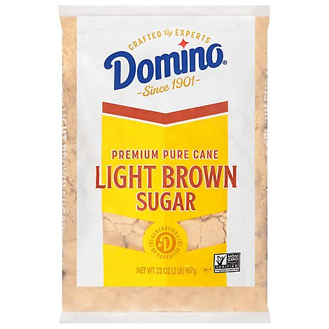 Domino Sugar Pure Cane Light Brown - 32 Oz