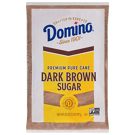 Domino Sugar Pure Cane Dark Brown - 32 Oz