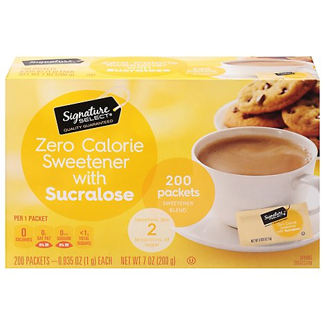 Signature Kitchens Sweetener Sucralose Packets - 200 Count