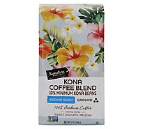 Signature SELECT Coffee Ground Medium Roasted Kona Blend - 12 Oz