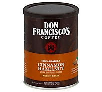 Don Franciscos Coffee All Purpose Grind Medium Roast Cinnamon Hazelnut - 12 Oz