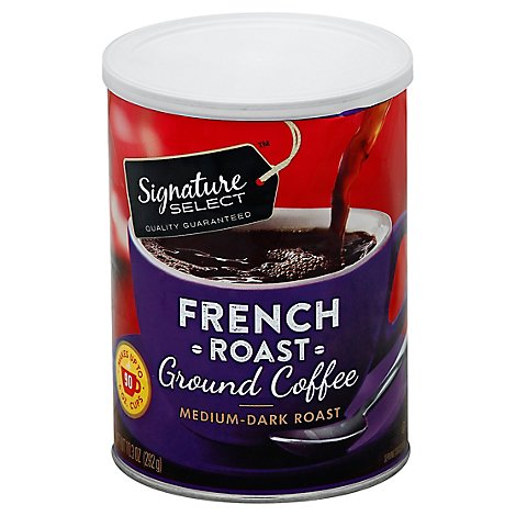Signature SELECT Coffee Ground Medium Dark Roast French Roast - 10.3 Oz