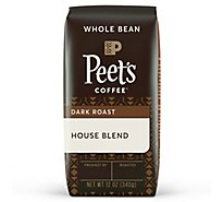 Peets Coffee Whole Bean Deep Roast House Blend - 12 Oz