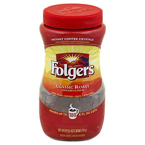 Folgers Coffee Instant Classic Roast - 12 Oz