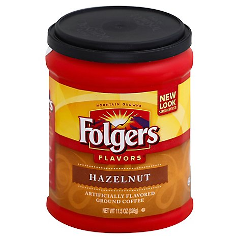 Folgers Flavors Coffee Ground Hazelnut - 11.5 Oz