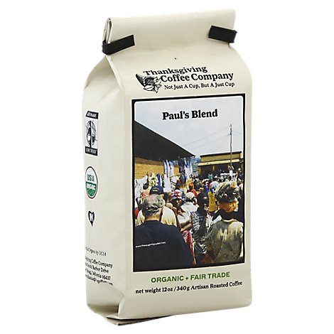 Thanksgiving Coffee Coffee Organic Medium Roast Pauls Blend - 12 Oz