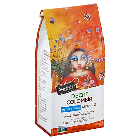 Signature SELECT Coffee Ground Medium Roast Colombia Decaf - 11 Oz