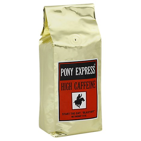 Thanksgiving Coffee Coffee Dark Roast High Caffeine Pony Express - 12 Oz