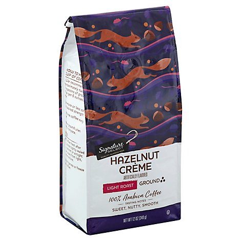 Signature SELECT Coffee Arabica Ground Light Roast Hazelnut Creme - 12 Oz