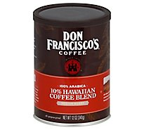 Don Franciscos Coffee All Purpose Grind Medium Roast Hawaiian Blend - 12 Oz
