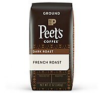 Peets Coffee Coffee Ground Deep Roast French Roast - 12 Oz
