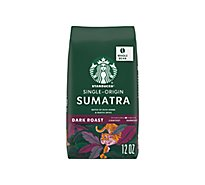 Starbucks Coffee Whole Bean Dark Roast Sumatra Bag - 12 Oz