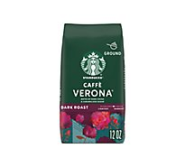 Starbucks Coffee Ground Dark Roast Caffe Verona Bag - 12 Oz