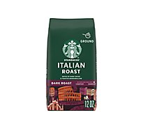 Starbucks Coffee Arabica Ground Dark Roast Italian Roast - 12 Oz