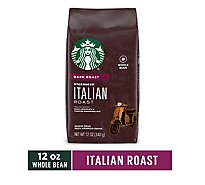 Starbucks Coffee Whole Bean Dark Roast Italian Roast Bag - 12 Oz
