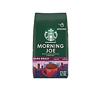 Starbucks Coffee Ground Dark Roast Morning Joe Bag - 12 Oz