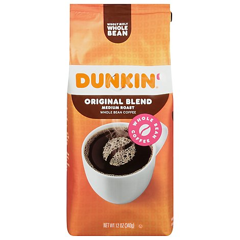 Dunkin Donuts Coffee Whole Bean Medium Roast Original Blend - 12 Oz