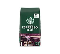 Starbucks Coffee Whole Bean Dark Roast Espresso Roast Bag - 12 Oz