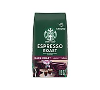 Starbucks Coffee Arabica Ground Dark Roast Espresso Roast - 12 Oz