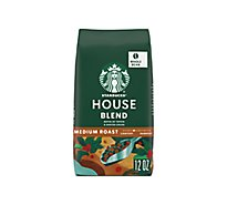 Starbucks Coffee Whole Bean Medium Roast House Blend Bag - 12 Oz