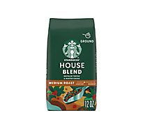 Starbucks Coffee Ground Medium Roast House Blend Bag - 12 Oz