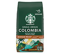 Starbucks Coffee Ground Medium Roast Colombia Bag - 12 Oz