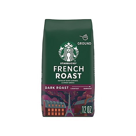 Starbucks Coffee Ground Dark Roast French Roast Bag - 12 Oz