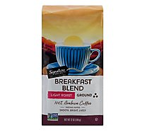Signature SELECT Coffee Ground Light Roast Breakfast Blend - 12 Oz