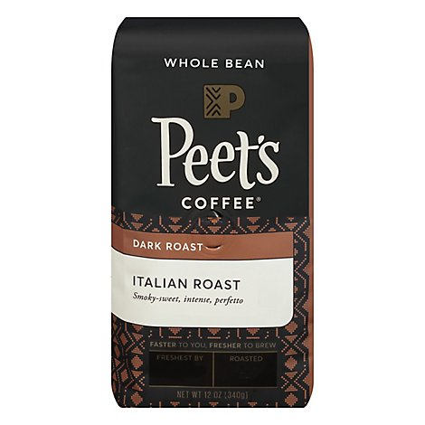 Peets Coffee Coffee Whole Bean Deep Roast Italian Roast - 12 Oz