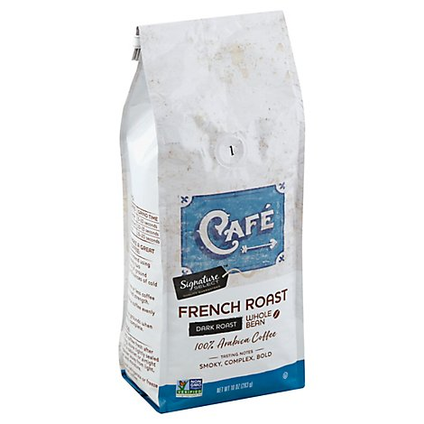 Signature SELECT Coffee Whole Bean Arabica Dark Roast French Roast - 10 Oz