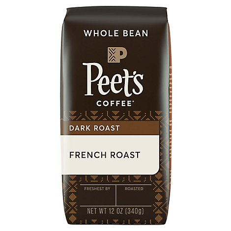 Peets Coffee Whole Bean Deep Roast French Roast - 12 Oz